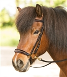 Icelandic Complete Bridle with Gold Crystals by Waldhausen