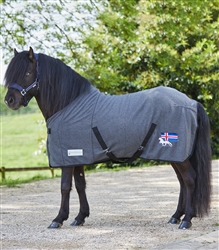 Fleece Rug from Waldhausen with Icelandic Flag and Horse