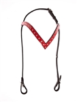 Red Patent Headstall with White Gems
