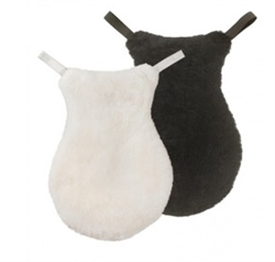 Real Lambskin Seat Cover in Black