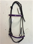 Bridle with purple Varnish and Stones