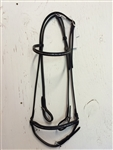 Bridle with square metal plates