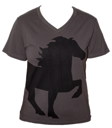 Karlslund V-Neck T-Shirt with Tölting Horse