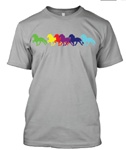 "T-Shirt ""Rainbow Icelandics"""